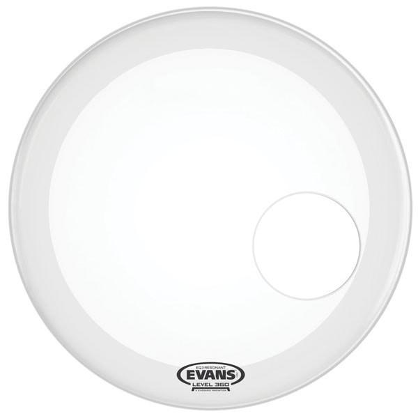 Evans EQ3 Resonant Bass Drum Head | Coated White