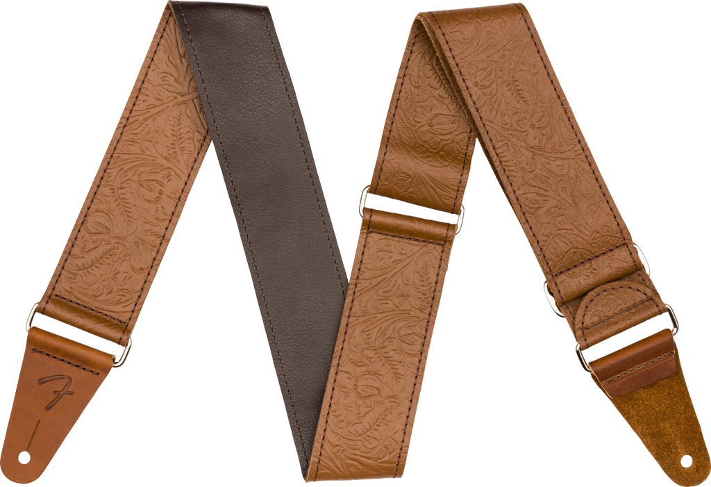 "Fender 2"" Tooled Leather Strap 