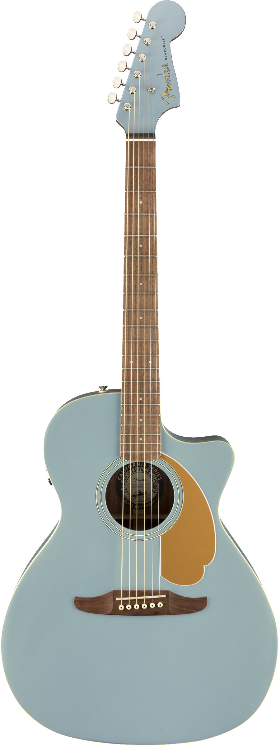 Fender Newporter Player Acoustic Electric Guitar | Ice Blue Satin