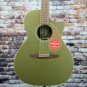Fender Newporter Player Acoustic-Electric Guitar | Olive Satin