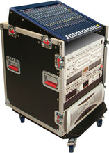 Gator G-TOUR-GRC12X12 12U Top 12U Side Audio Road Console Rack