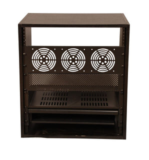 Gator GR-STUDIO Series Stationary Wood Studio Audio Rack 12U