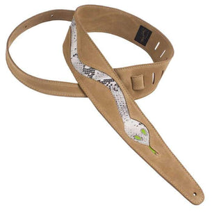 Henry Heller Boa Snake Leather Guitar Strap | Sand