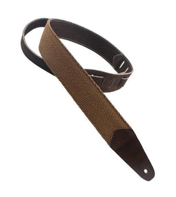 Henry Heller HPCL-BRN Fashion Series Guitar Strap | Brown