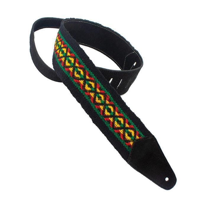 Henry Heller HPCWD-BLK Fashion Cotton Series Guitar Strap