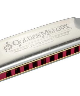 Hohner 542PBX-C Progressive Golden Melody Harmonica in KEY OF C