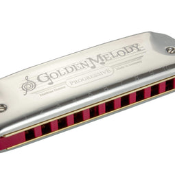 Hohner 542PBX-D Progressive Golden Melody Harmonica in KEY OF D