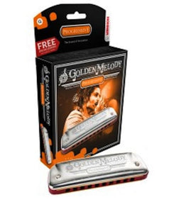 Hohner 542PBX-G {rpgressove Golden Melody Harmonica | Key oF G