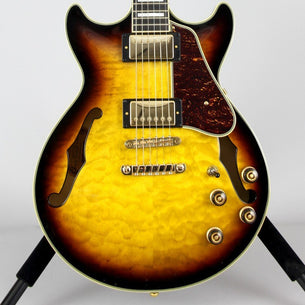 Ibanez AM93QM Artcore Expressionist Hollow Body Guitar Aged Yellow Sunburst