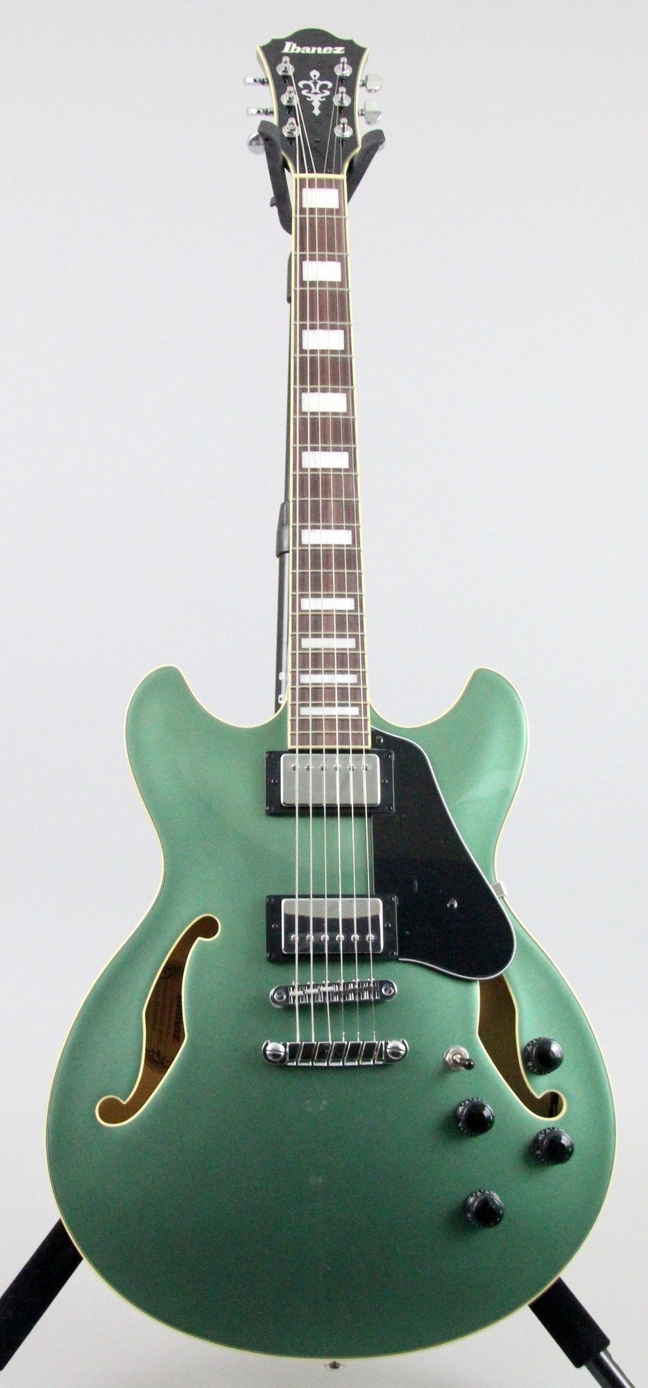 Ibanez AS73 Artcore Semi-Hollow Body Electric Guitar Olive Metallic