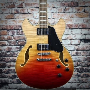Ibanez AS73FM Hollow Body Guitar | Trans Autumn Fade