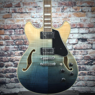 Ibanez AS73FM Hollow Body Guitar | Trans Indigo Fade