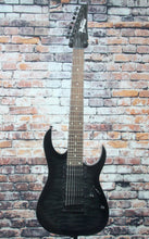Ibanez GRG7221QA 7-String Electric Guitar | Transparent Black