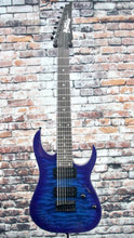 Ibanez GRG7221QA Electric Guitar | Trans Blue Burst
