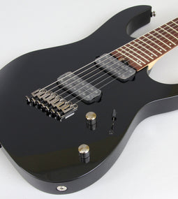 Ibanez RGMS7 Multi-Scale 7-String Electric Guitar | Black