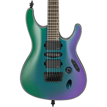 Ibanez S671ALB Axion Label Guitar | Black Aurora Burst
