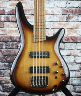 Ibanez SR375E 5-String Bass Guitar | Natural Browned Burst