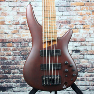 Ibanez SR506E 6-String Bass Guitar | Brown Mahogany