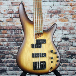 Ibanez SR655E 5-String Bass Guitar | Natural Flat Burst