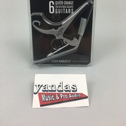 Kyser KG6 6-String Acoustic Guitar Capo | Quick Change | Silver