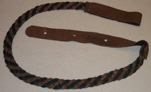 Lakota Leathers Flat Braid Mandolin Strap | Black & Chocolate