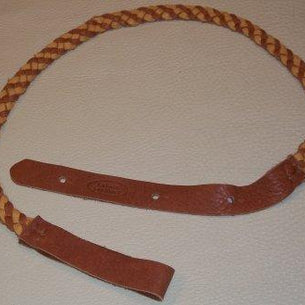 Lakota Leathers Flat Braid Mandolin Strap | Tan & Tobacco