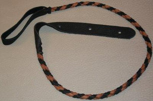 Lakota Leathers LK-FBTO Flat Braid Mando Strap | Black & Tobacco