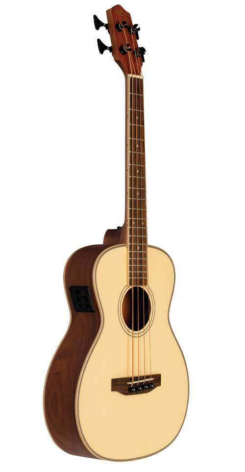 Lanikai Acoustic/Electric Bass Ukulele | Solid Sprice Top | Morado Back and Sides
