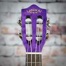 Lanikai Acoustic/Electric Tenor Ukulele | Quilted Maple Purple Stain