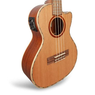 Lanikai Acoustic/Electric Tenor Ukulele | Solid Cedar Top