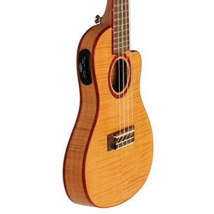 Lanikai Acoustic/Electric Thin Body Concert Ukulele | Flame Maple