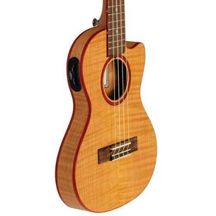 Lanikai Acoustic/Electric Thin Body Tenor Ukulele | Flame Maple