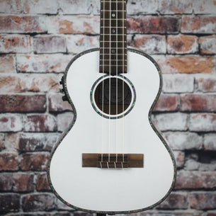 Lanikai Julia Michaels Signature Acoustic/Electric Tenor Ukulele | White Pearl