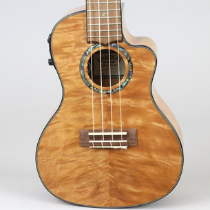 Lanikai Quilted Maple Concert Uke W/ Preamp | Natural Stain
