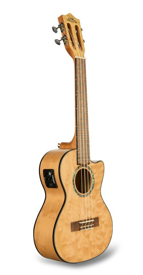 Lanikai Quilted Maple Tenor Uke W/ Preamp | Natural Stain
