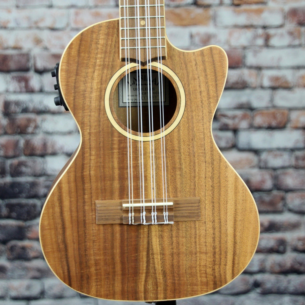 Lanikai Solid Acacia Top 8-String Tenor Ukulele With Kula Preamp | ACST-8CET