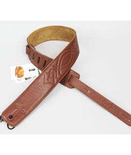 Levy's DM1SG Garment Leather Guitar Strap Brown