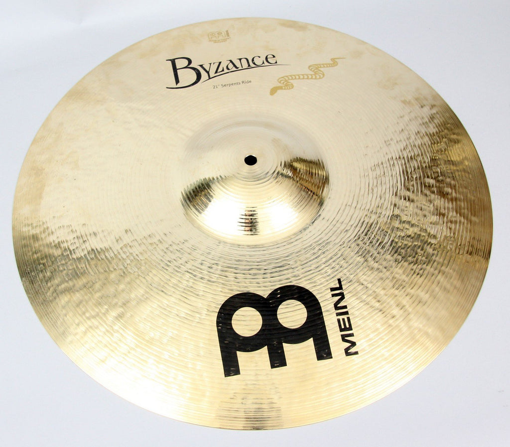 "Meinl 21"" Byzance Brilliant Serpents Ride Cymbal 
