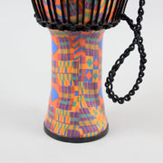 Meinl Rope Tuned Travel Series Djembe With Goat Skin Head | Kenyan Quilt
