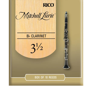 Mitchell Lurie Bb Clarinet Reeds, Strength 3.5, 10 Pack