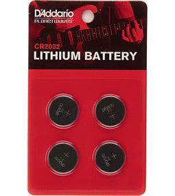 Planet Waves CR2032 Lithium Batteries | 4 Pack