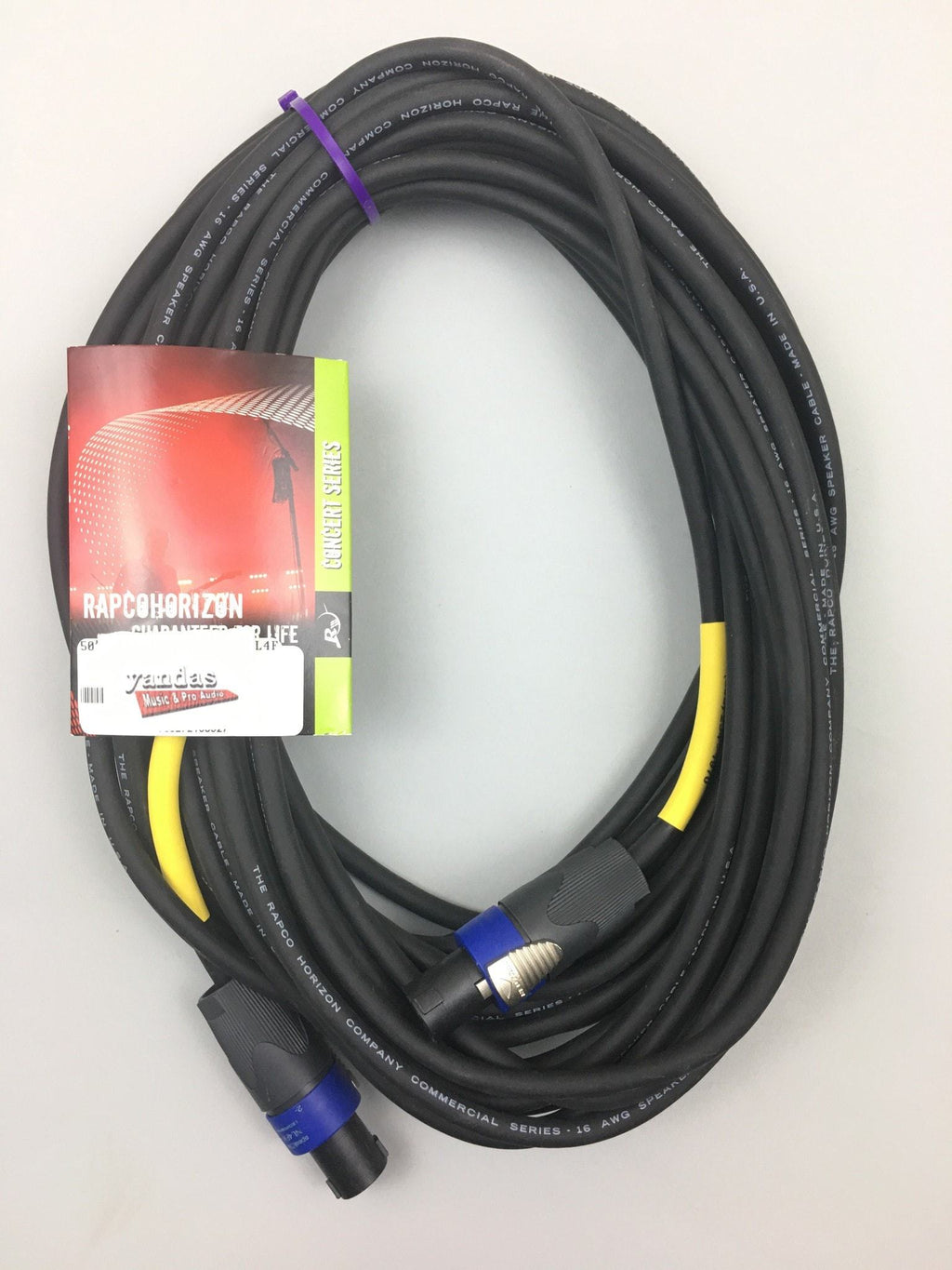 Rapco 50' 16 Gauge Speaker Cable | Speakon Connectors