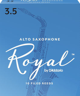 Rico Royal Alto Sax Reeds, Strength 3.5, 10-pack