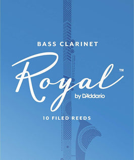 Rico Royal Bass Clarinet Reeds, Strength 2, 10 Pack