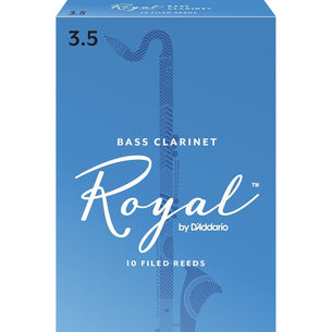 Rico Royal Bass Clarinet Reeds, Strength 3.5, 10 Pack