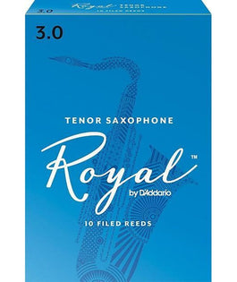 Rico Royal Tenor Sax Reeds, Strength 3, 10-pack