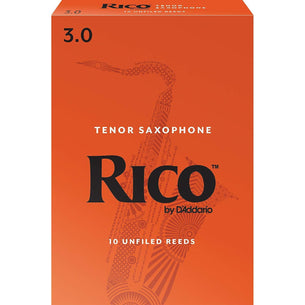 Rico Tenor Sax Reeds, Strength 3, 10-pack