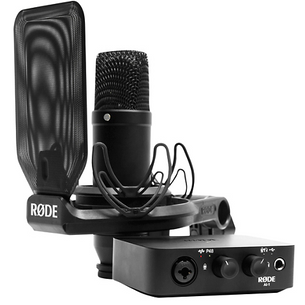 Rode Complete Studio Kit With Mic, Interface, Shock-mount, Pop-filter, and Cable