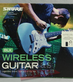 Shure BLX14 Wireless Guitar System | Includes WA302 Guitar Cable H10