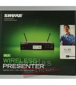 Shure BLX14R/W93 Wireless Omnidirectional Lapel Microphone System H10